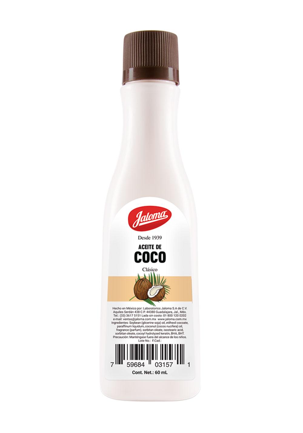 Aceite clásico de Coco, 60 ml.