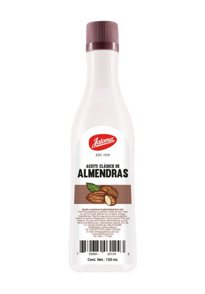 Aceite clásico de Almendras, 120 ml.
