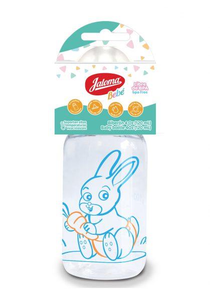 Jaloma Biberon 4oz niño polipro conejo(4oz x 25pz) Mx