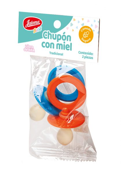 Honey type pacifier, bag with 2 pieces