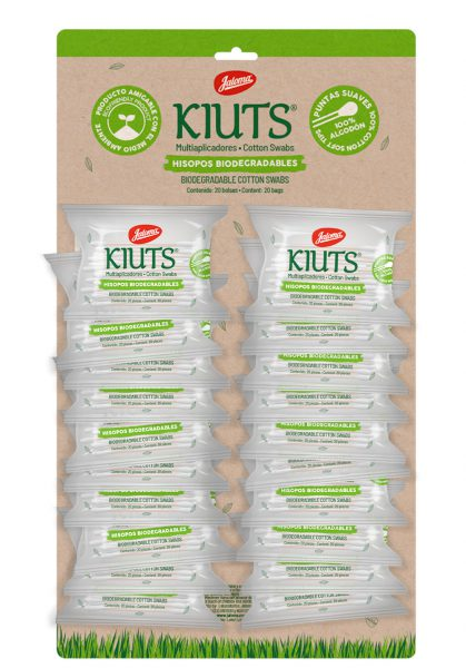 Kiuts purse pack, with 20 bags with 20 cotton swabs each