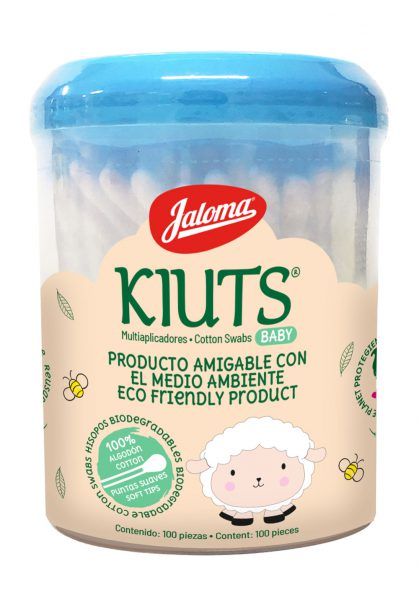 Kiuts container, 50 bags with 20 cotton swabs each
