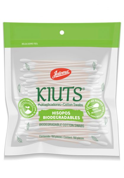 Kiuts cotton swabs sellapack bag, with 150 count