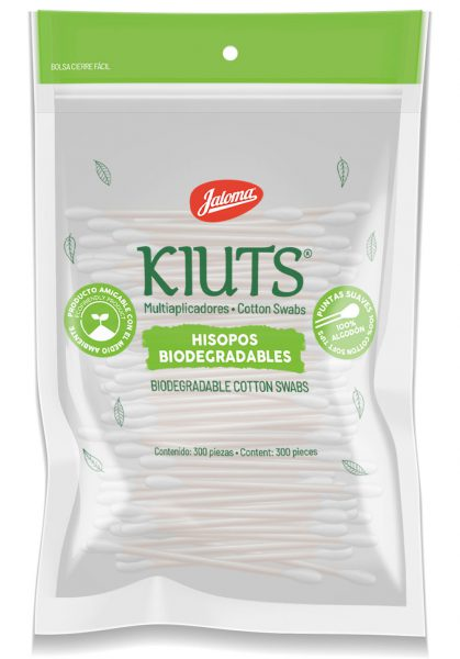Kiuts cotton swabs sellapack bag, with 300 count