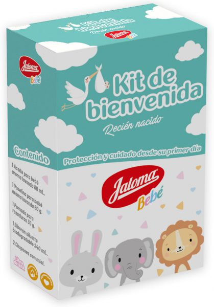 Jaloma Newborn welcom kit, with 6 products
